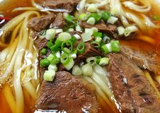 Sopa de fideos fresca de la carne de vaca Imagen de archivo libre de regalías