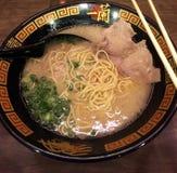 Sopa de fideos japonesa de los Ramen imagen de archivo