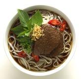 Sopa de fideos tailandesa Fotos de archivo libres de regalías