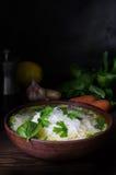 Sopa de fideos tailandesa del pollo Imagen de archivo