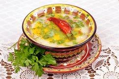 Sopa de galinha Imagem de Stock Royalty Free