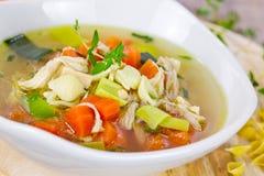 Sopa de galinha Fotos de Stock