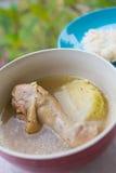 Sopa de galinha imagens de stock royalty free