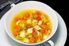 Sopa de galinha Foto de Stock