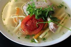 Sopa de galinha Fotografia de Stock Royalty Free