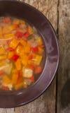 Sopa de galinha caseiro Fotografia de Stock
