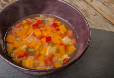 Sopa de galinha caseiro Foto de Stock