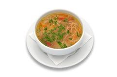 Sopa de galinha de Zama, de romanian e de moldavian fotos de stock royalty free