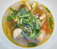 Sopa de galinha picante fotografia de stock royalty free