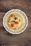 Sopa de galinha saboroso Foto de Stock