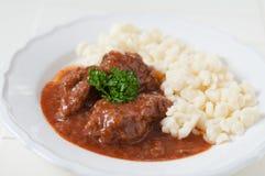 Sopa de goulash húngara Imagens de Stock Royalty Free