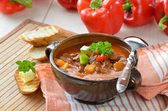 Sopa de goulash quente Fotos de Stock Royalty Free