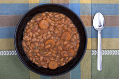Sopa de habas. Imagen de archivo libre de regalías