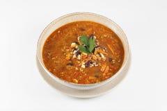 Sopa de habas mexicana fotos de archivo