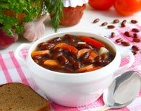 Sopa de habas rojas. Fotos de archivo