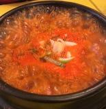 Sopa de Kimchi Foto de archivo