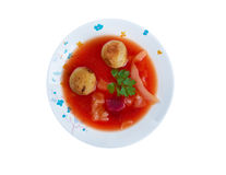 Sopa de Kubbeh Fotografía de archivo