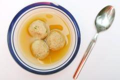 Sopa de la bola del Matzah Fotos de archivo
