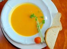 Sopa de la calabaza Foto de archivo