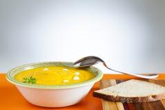 Sopa de la calabaza Fotografía de archivo