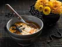 Sopa de la calabaza Imagen de archivo