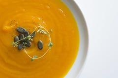 Sopa de la calabaza Foto de archivo libre de regalías