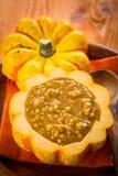 Sopa de la calabaza para la acción de gracias Imagen de archivo libre de regalías