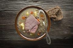 Sopa de la cebada Imagen de archivo libre de regalías