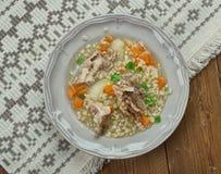 Sopa de la cebada de la carne de vaca de Amish Fotografía de archivo