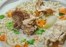 Sopa de la cebada de la carne de vaca de Amish Imagen de archivo