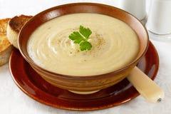 Sopa de la coliflor y de patata Imagen de archivo libre de regalías