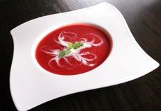 Sopa de la fresa Fotos de archivo libres de regalías