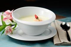 Sopa de la leche de coco Imagen de archivo libre de regalías