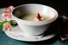 Sopa de la leche de coco Fotos de archivo