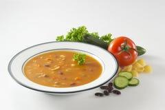 Sopa de la mezcla del tomate imagen de archivo libre de regalías