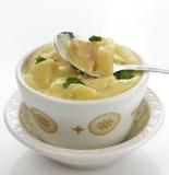 Sopa de la patata, del bróculi y del queso fotografía de archivo libre de regalías