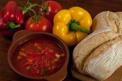 Sopa de la pimienta Imagen de archivo libre de regalías