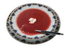 Sopa de la remolocha Fotografía de archivo libre de regalías