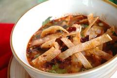 Sopa de la tortilla Fotografía de archivo