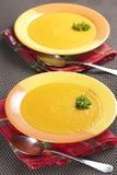 Sopa de la zanahoria fotos de archivo