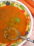 Sopa de la zanahoria Imágenes de archivo libres de regalías