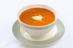 Sopa de la zanahoria Fotografía de archivo