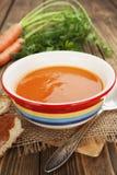 Sopa de la zanahoria Foto de archivo