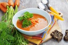 Sopa de la zanahoria Fotografía de archivo libre de regalías