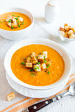 Sopa de la zanahoria Foto de archivo libre de regalías