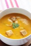 Sopa de la zanahoria y del coriandro Foto de archivo