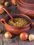 Sopa de las cebollas Fotografía de archivo