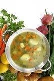 Sopa de las verduras frescas fotografía de archivo libre de regalías