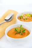 Sopa de las zanahorias Fotografía de archivo