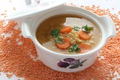 Sopa de lenteja Foto de archivo libre de regalías